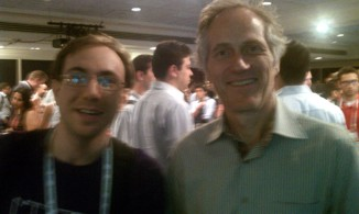Mitch Lampert and Tim O'Reilly at NYC's Web 2.0 Expo 2010